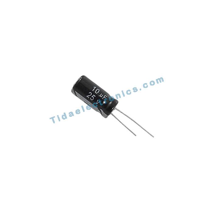 خازن الکترولیتی 10uf 25v