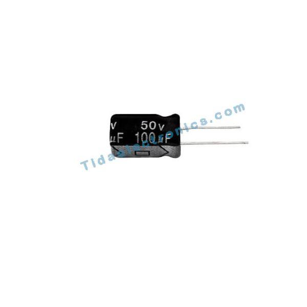 خازن الکترولیتی 100UF 50V