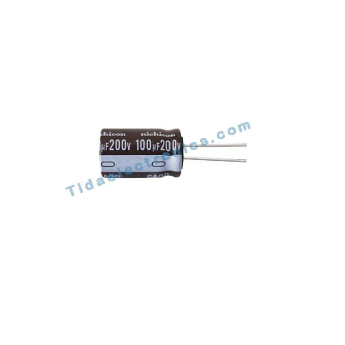 خازن الکترولیتی 100UF 200V