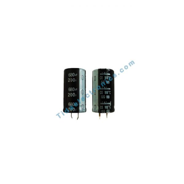 خازن الکترولیتی 680UF 200V