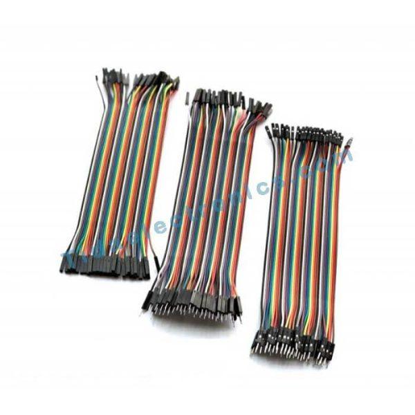 پک سه عددی کابل فلت 20سانتی متری رنگی Jumper color kit
