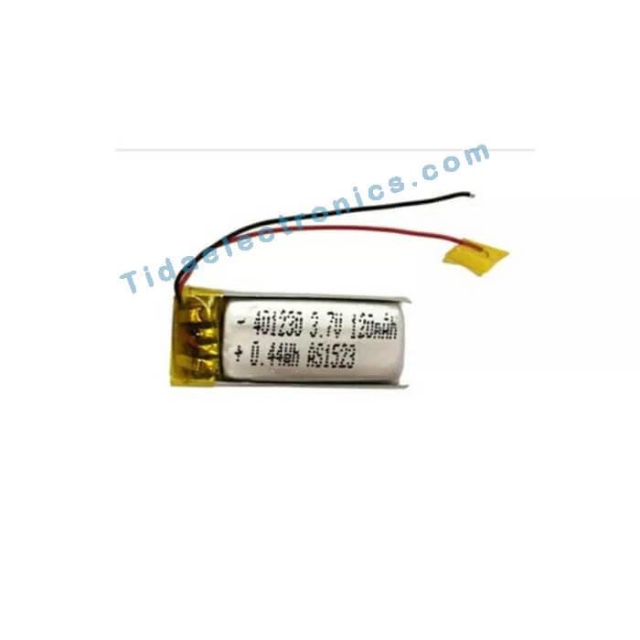 باتری لیتیوم پلیمر Li-po 3.7 120 mAh *20mm9 تک سل