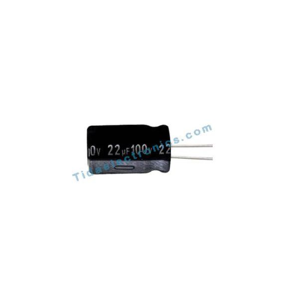 خازن الکترولیتی 22UF 100V
