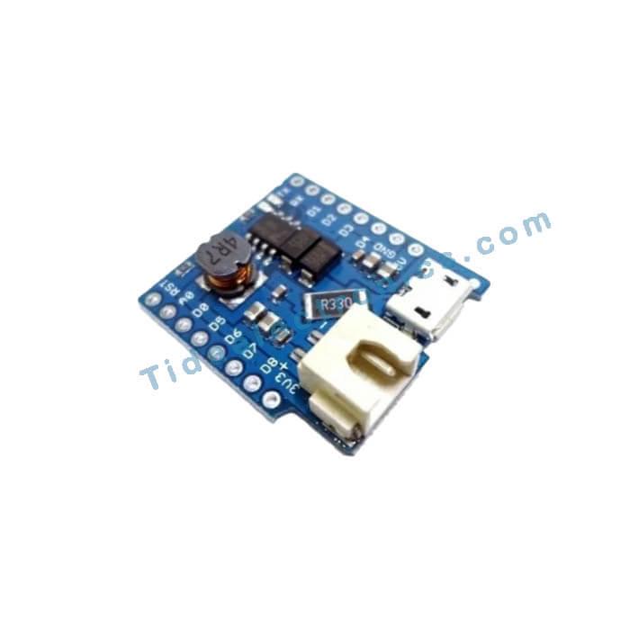 شیلد شارژر باتری Battery shield ویموس با تراشه Wemos Mini D1 برد TP5410
