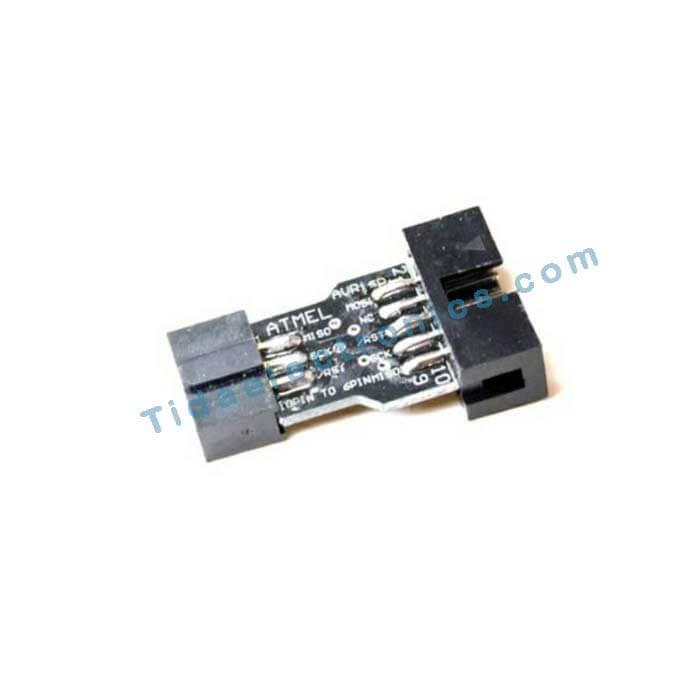برد آداپتور آردینو تبدیل AVR ISP 10 پین به 6 پین مخصوص پروگرامر