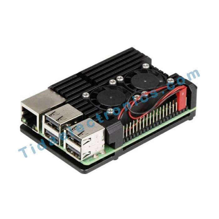 جعبه آلمینیومی هیت سینک رزبری پای 4 Heatsink case Raspberry pi