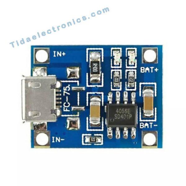 ماژول شارژ باتری لیتیومی Mini USBTp4056 توان 1آمپر