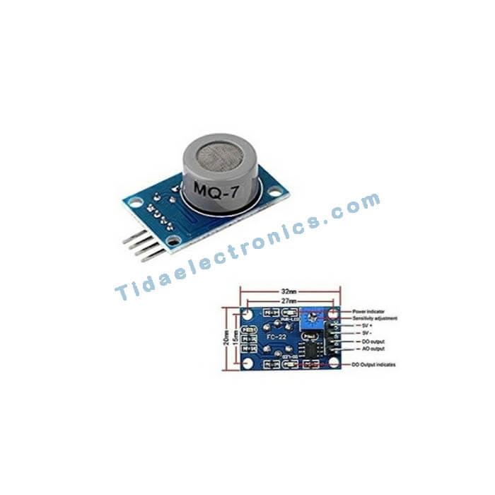 ماژول تشخیص گاز کربن CO منوکسید با سنسور گاز MQ7 Gas Sensor