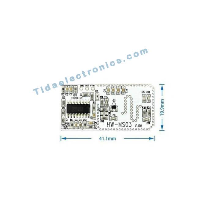 ماژول مایکروویوسنسور HW-MS03 تشخیص حرکت رادار MicroWave