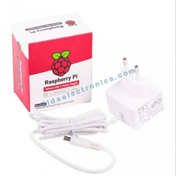 آداپتور اورجینال رزبری پای 4 USB Raspberry Pi