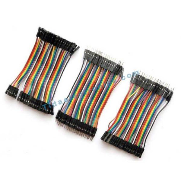 پک سه عددی کابل فلت 10سانتی متری رنگی Jumper color kit