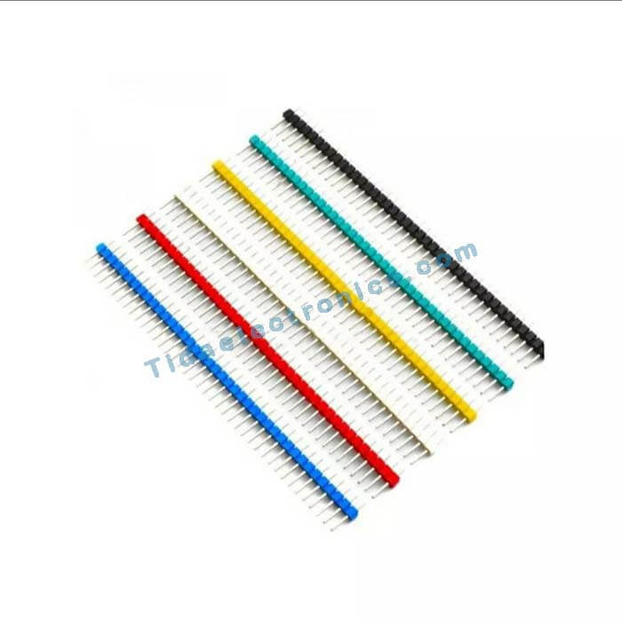 یک پک 6عددی پین هدر مناسب آردینوColored 40 Pins