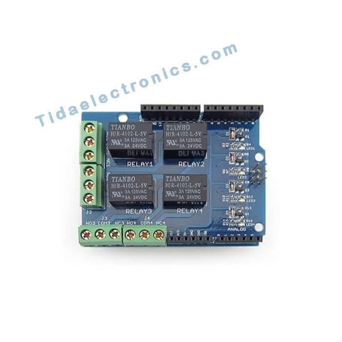 شیلد رله 4کانال Arduino آردینو Relay Shield
