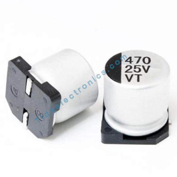 خازن SMD الکترولیت 1000uF / 16V سایز 10x10